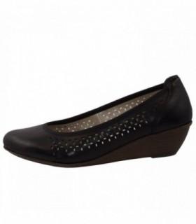 Pantofi dama, din piele naturala, marca Rieker, 43266-00-01-22, negru