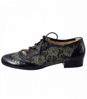 Pantofi dama, din piele naturala, marca Alpina, 84332-42-23, bleumarin