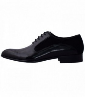 Pantofi eleganti barbati, din piele naturala, marca Eldemas, 9615-1633-01-24, negru