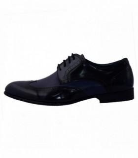 Pantofi eleganti barbati, din piele naturala, marca Saccio, A584-25E-42-17, bleumarin