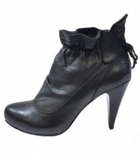 Botine dama, din piele naturala, marca Le Scarpe, 206-01-85, negru