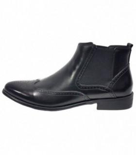 Ghete barbati, din piele naturala, marca Eldemas, LC05-7-01-24, negru