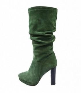 Cizme dama, din piele naturala, marca Botta, 500-06-05, verde