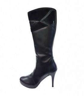 Cizme dama, din piele naturala, marca Neno, 11311-01-71, negru