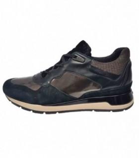 Pantofi sport dama, din piele naturala, marca Geox, D62N1-01-06, negru