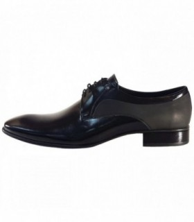 Pantofi eleganti barbati, din piele naturala, marca Conhpol, C00C-5026-ZB24-01-40, negru