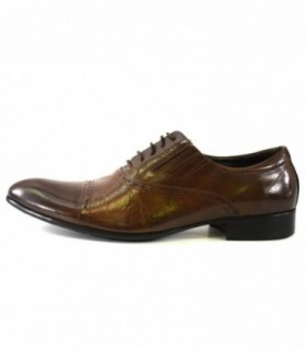 Pantofi eleganti barbati, din piele naturala, marca Eldemas, A063-103-02-24, maro