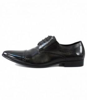 Pantofi eleganti barbati, din piele naturala, marca Saccio, AE110207-8A-01-17, negru