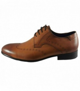 Pantofi eleganti barbati, din piele naturala, marca Saccio, A370-51C-16-17, coniac