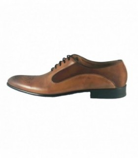 Pantofi eleganti barbati, din piele naturala, marca Eldemas, 9615-1633-16-24, coniac