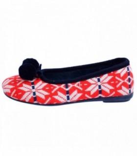 Papuci de casa dama, din textil, marca Gioseppo, 16453-5, rosu
