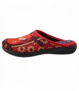 Papuci de casa dama, din textil, marca Inblu, BQ113-003RO-5, rosu