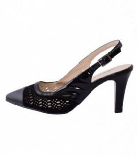 Pantofi decupati dama, din piele naturala, marca Deska, B29317-1, negru