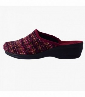 Papuci de casa dama, din textil, marca Inblu, BJ66-016BO-E8, visiniu inchis