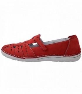 Pantofi dama, din piele naturala, marca Zen, A1E6789R-5, rosu